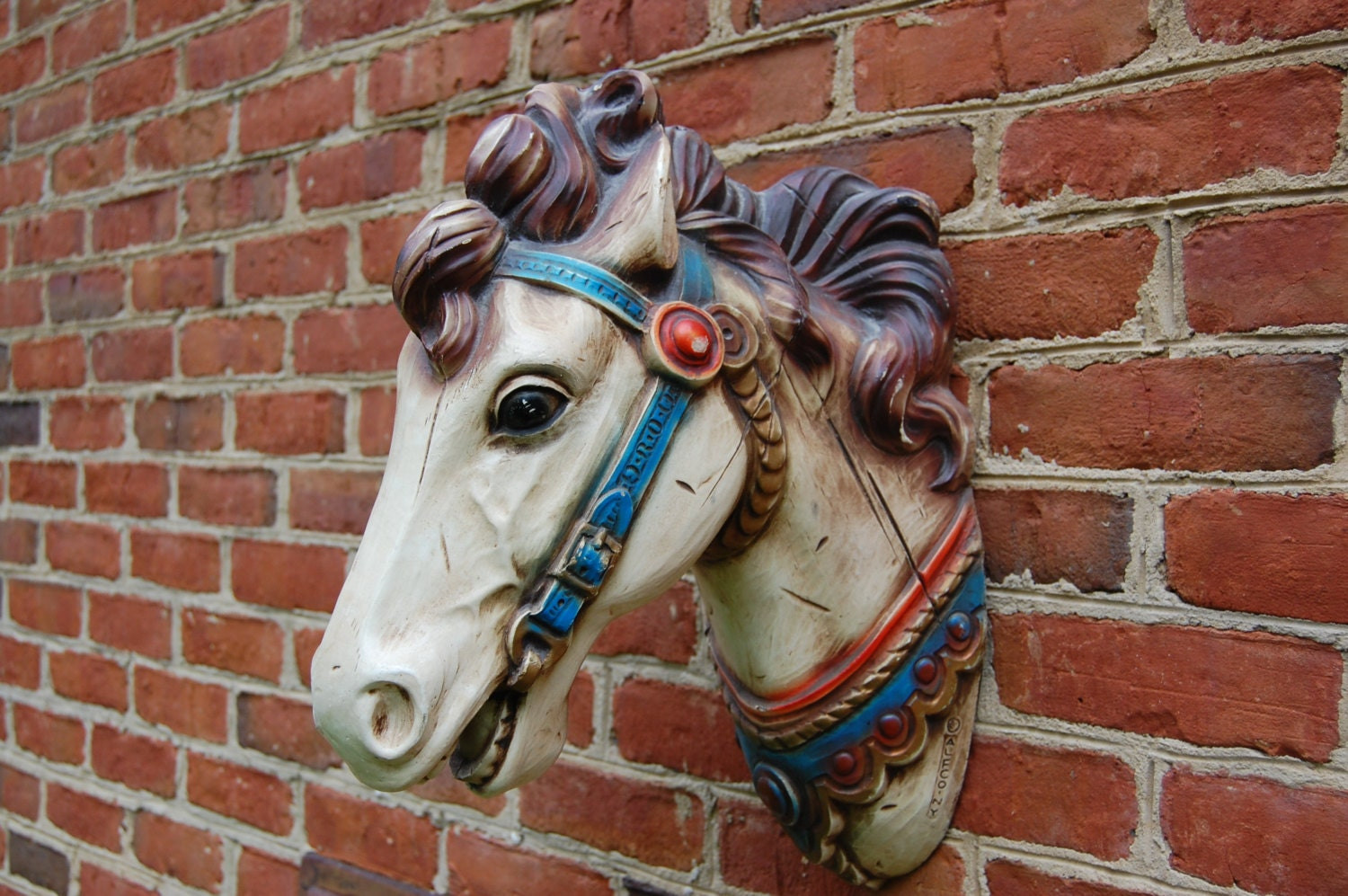 Vintage Carousel Horse Full Size Alfco Ny Resin Based Replica