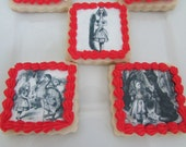 Alice in Wonderland edible paper images for cookies (wafer paper)