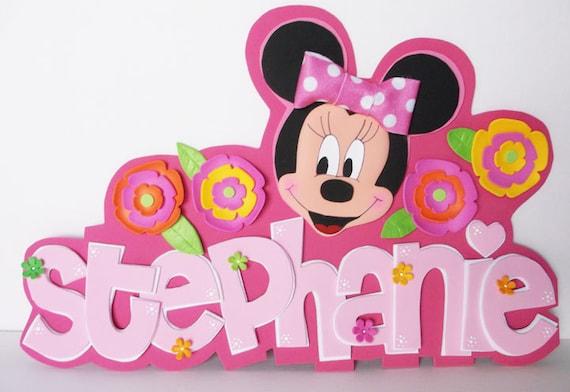 3d foam wall decor minnie mouse personalized fofucha