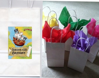 Pirate party favor goody bags personalized set of 10
