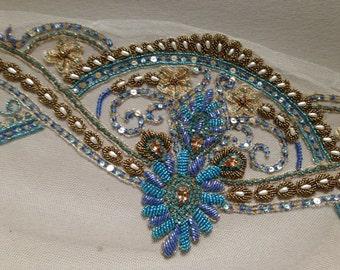 Couture Veil - Art Deco Veil Blues