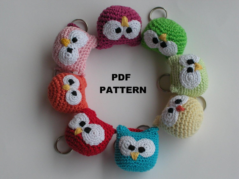 Amigurumi Free Patterns Keychain : Instant Download Crochet PATTERN 241 amigurumi owl crochet