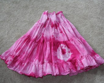 Made to order Tribal Tie Dye 15 yrd cotton skirt perfect for ATS (R), skirt work, or Steampunk.