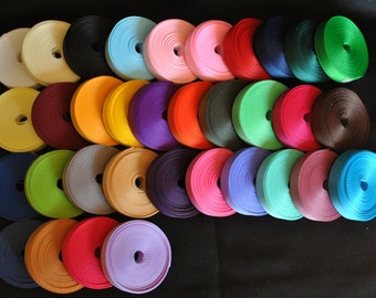 """FREE SHIPPING  3/8 """" grosgrain ribbon  solid -33 colors - 5 yards each a total of 165 yards"""