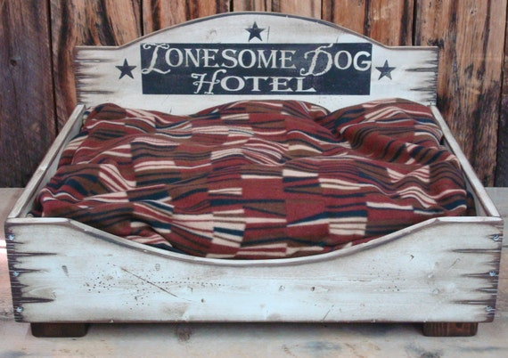 Small Dog Bed, Western Dog Bed, Wood Dog Bed, Rustic Dog Bed, Custom Dog Bed