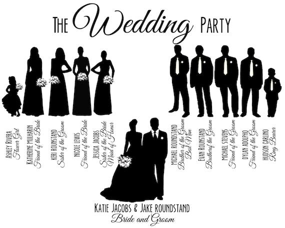 Items similar to Custom Printable Wedding Party Bridal ...
