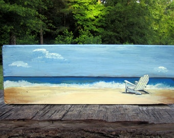 Beach Painting For Home, Beach House Decor, Original Painting, Hand Painted Wall Art, Home Decor