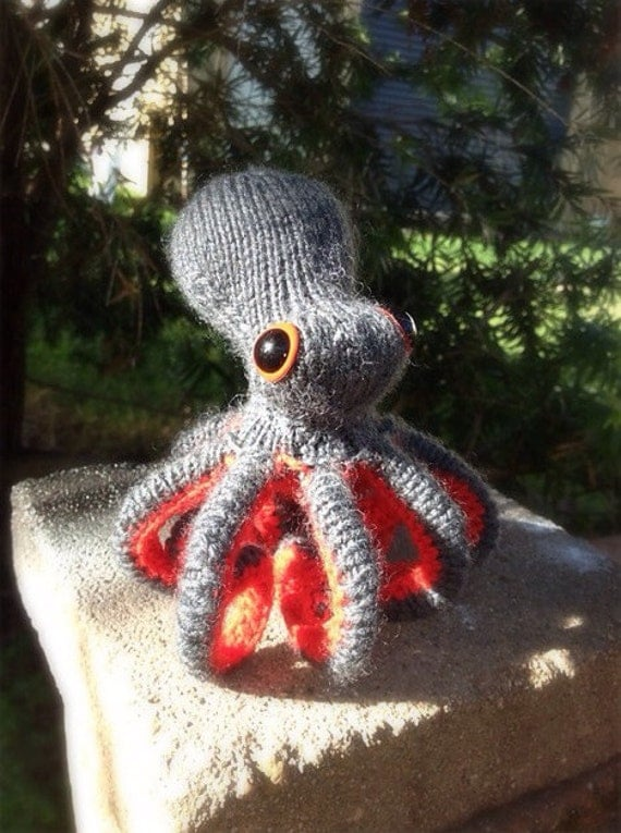 Knitted Poseable Octopus