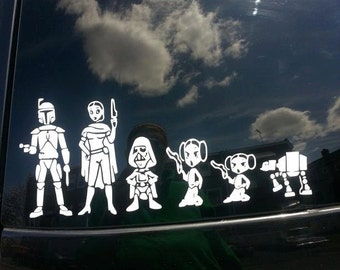 Sci Fi show inspired Car Decal Family