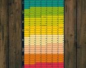 How much longer - calendar 2014 - wall calendar - wall Planner - year Planner - WiLaNo