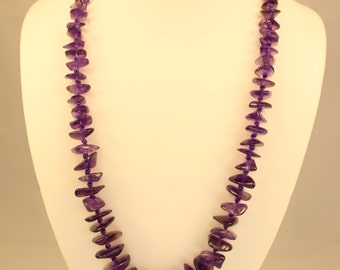 Dark Purple Amethyst Necklace