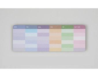 Weekly Scheduler Sticky Note Memopad Notepad