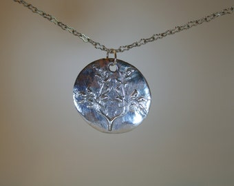 Handcrafted fine silver Tree of Life Pendant