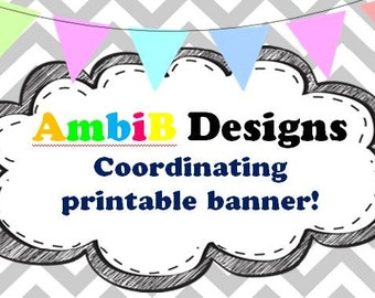 Add a coordinating printable banner to match your purchased invite