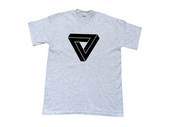 Penrose Triangle T-Shirt, in 4 Colors, 5 Sizes