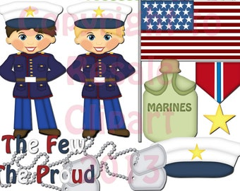 DIGITAL SCRAPBOOKING CLIPART - Marines Boys