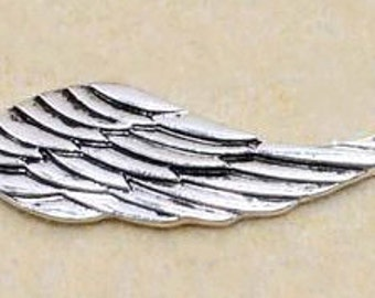 10pcs of Wings Antique  Silver  Large Wings Charm Pendants 49mm