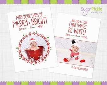Christmas Card Template PSD, Luxe christmas card template, Christmas photo prop