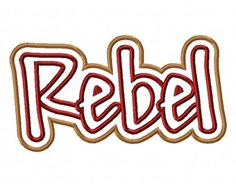 Rebels Text Double Applique Designs N085