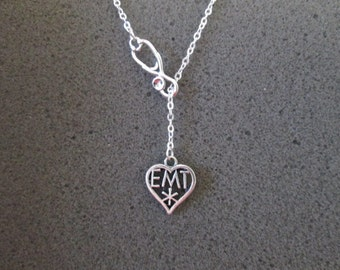Silver EMT Lariat Necklace