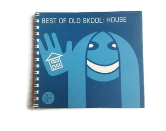 OLD SKOOL | Notebook | Recycled Album Cover | Notepad | Dance Music | Gift Idea |  For Her | For Him | For Ravers