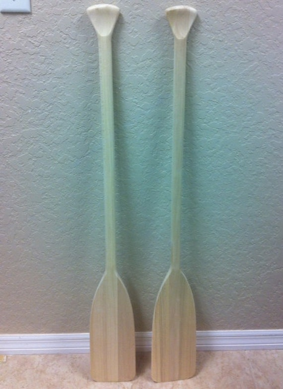 46 Deluxe Unfinished Wooden Boat Paddles Set Of Two