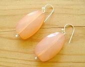 Coral Peach Drop earrings, Coral drop earrings, statement earrings