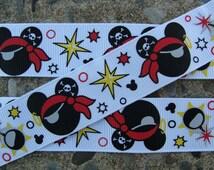 """Pirate Minnie Mouse Printed Ribbon 7/8"""" ribbon printed ribbon hair bow ribbon"""
