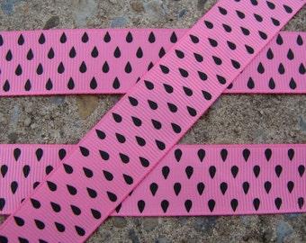 """3 yards Watermelon Ribbon 7/8"""" grosgrain ribbon Hair Bow Supplies"""