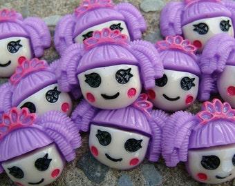 2 Lalaloopsy Resins Crown Lalaloopsy Purple Lalaloopsy hair Bow Resins Free Shipping for all additional items