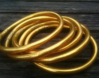 24K gold leaf temple bracelets