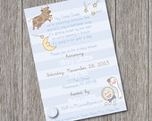 Hey Diddle Diddle  - Printable Baby Shower Invitation