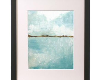 Seascape -- Original 8x10 Painting FREE SHIPPING