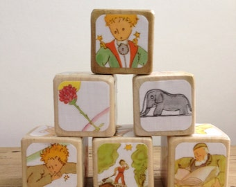 The Little Prince // Childrens Book Blocks // Natural Wood Toy