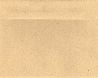 Kraft Brown Envelopes x (20)  C5 C6  5x7 11B 130x180mm 160Sq 130Sq 100% Recycled Material