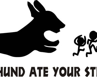 My Dachshund Ate Your Stick Family Car Decal/Sticker