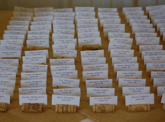 50 Rustic Wine Cork Place Card Holders For Vineyard Wedding Or