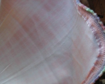 Pink and White Plaid Fleece Blanket