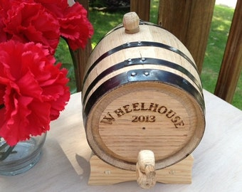 Personalized Groomsmen Gift - 2 Liter Mini-Oak Whiskey Barrel - Birthday Gift - Anniversary Gift - Father's Day Gift - Personalized Gift