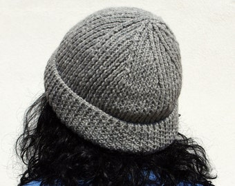 Beanie gray pattern pdf knit ribbed hat