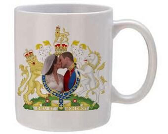 Prince William and Kate Wedding Kiss Mug 11oz. Style 2
