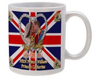 Prince William and Kate Wedding Kiss Mug 11oz.