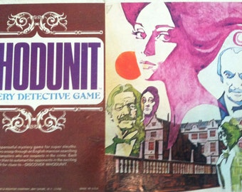 Vintage Collectible WHODUNIT The Mystery Detective Game . Complete good condition-Collectible