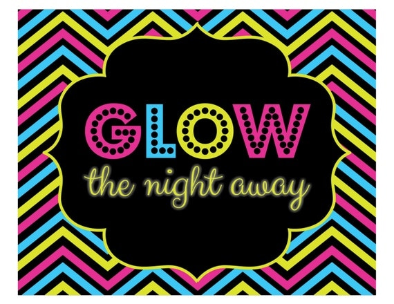 Printable Glow In The Dark Party Invitations for good invitations example