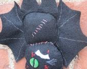 Black Bat Cat Made Of Felt