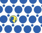Nancy Drew One Yard Get a Clue Ghostly White Polka Dots Quilting Fabric