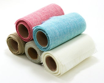 "Burlap Roll 6"" wide x 5 yards  - ** FREE SHIPPING **"