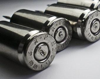 9mm Remington Nickel Push Pins Thumb Tacks Office Supplies 10 pieces Steampunk