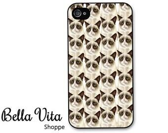 iPhone 4 Case - Grumpy Cat Tardar iPhone 4 4s Case, iPhone 4 Protective Case, Cases for iPhone 4, Rubber iPhone Case I4C