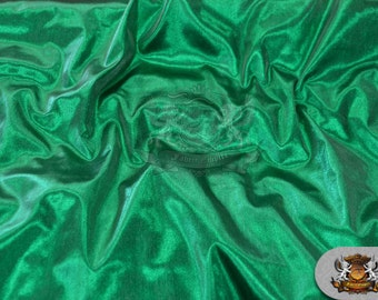 """Lame Tissue Solid Fabric FLAG GREEN / 45"""" Wide / Sold by the yard"""